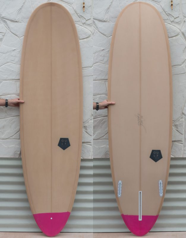 7.0 pink tail carpet surfboard