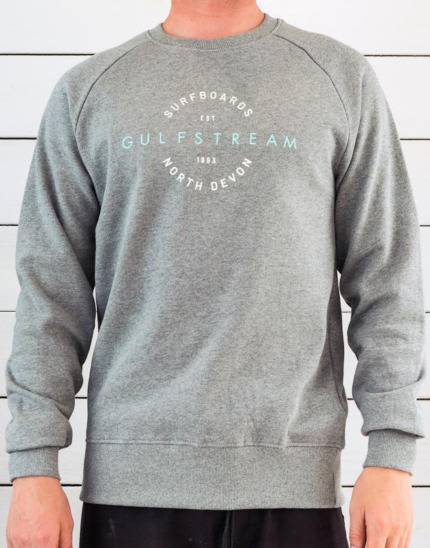 Grey vintage Raglan sweatshirt front