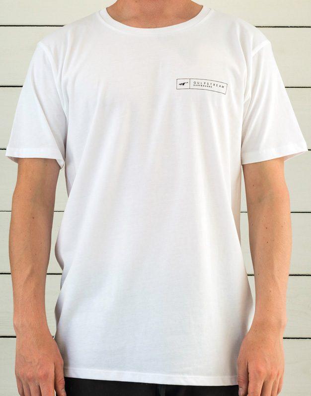 White longboard logo t-shirt front