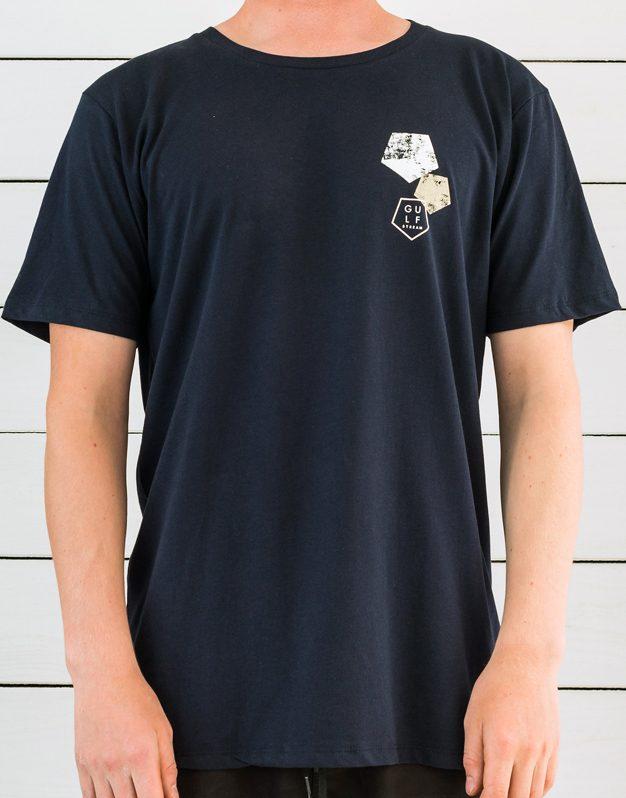 Navy Blue Shortboard logo t-shirt front print