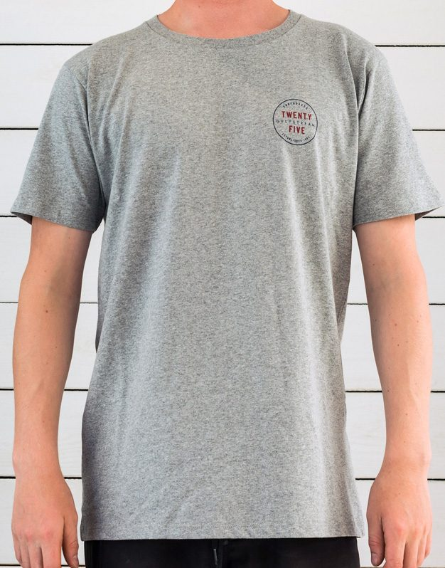 grey anniversary logo t-shirt front